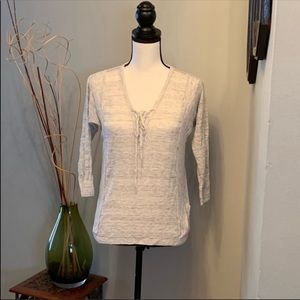 Luckily Brand v-neck with tie sweater